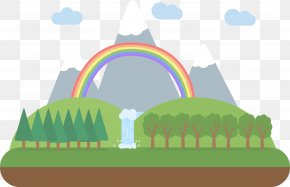 Forest Waterfall Vector - Euclidean Vector Download PNG