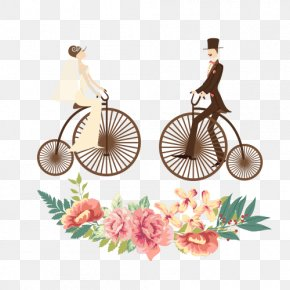 Biker Bride And Groom - Wedding Invitation Bridegroom Illustration PNG