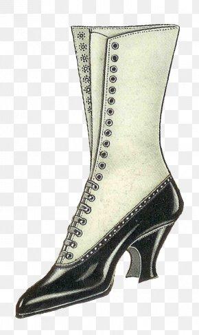 Retro Boots - Shoe Boot Vintage Clothing Antique Clip Art PNG