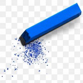 Blue Chalk - School Supplies Clip Art PNG