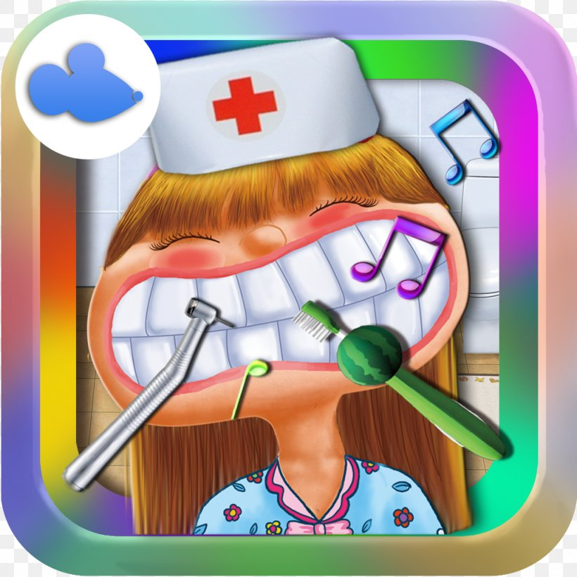 Dentist:Teeth Doctor-Hospital Free Kids Game Teeth Games Cute Dentist Crazy Dentist Doctor, PNG, 1024x1024px, Free Kids Game, Android, Art, Cartoon, Child Download Free