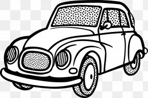 Cartoon Car - Car Line Art Drawing Clip Art PNG
