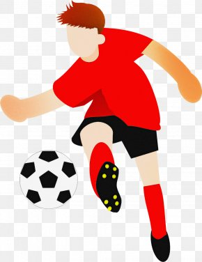 Playing Sports Player - Soccer Ball PNG