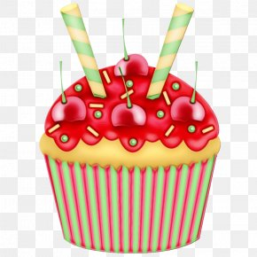 Baked Goods Birthday Cake - Birthday Candle PNG