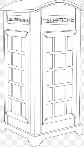Telephone Booth Cliparts - Telephone Booth Line Art Clip Art PNG