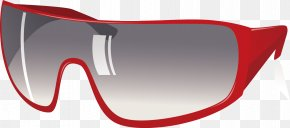 Red Border Sunglasses Vector - Goggles Red Sunglasses PNG