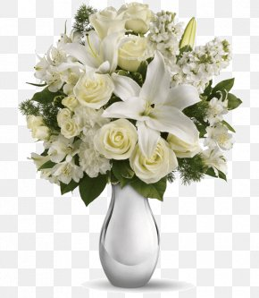White Flower Bouquet - Flower Bouquet Teleflora Floristry Flower Delivery PNG