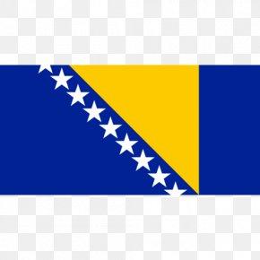 Flag - Flag Of Bosnia And Herzegovina Sarajevo Republic Of Bosnia And Herzegovina National Flag PNG