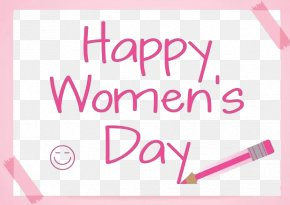 March 8 Women's Day Happy Sketchpad Pencil - International Womens Day Graphic Design PNG