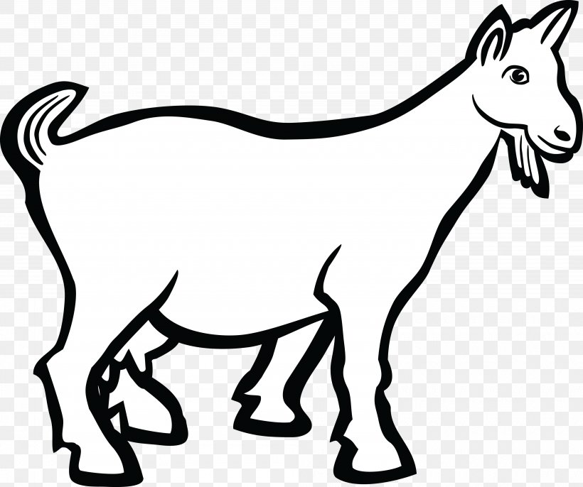 Boer Goat Line Art Drawing Clip Art, PNG, 4000x3350px, Boer Goat, Animal Figure, Black And White, Cartoon, Cattle Like Mammal Download Free