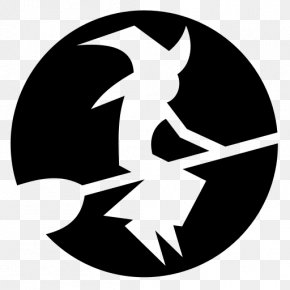 Witch - Monochrome Photography Black And White Silhouette PNG