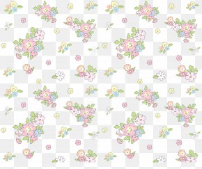 Flower Background - Textile Floral Design Pattern PNG