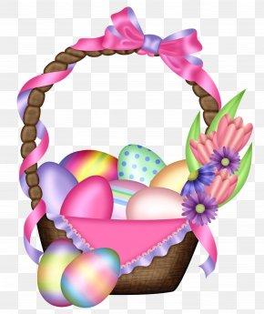 Easter Colorful Basket Transparent Clipart - Easter Bunny Easter Egg Clip Art PNG