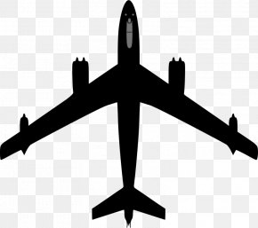 Black Cartoon Airplane - Airplane Fixed-wing Aircraft Clip Art: Transportation Clip Art PNG