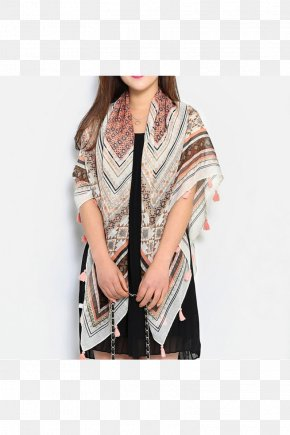 100 Cotton - Outerwear Neck Scarf Stole Brown PNG