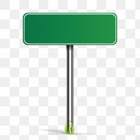 Vector Green Road Sign PNG