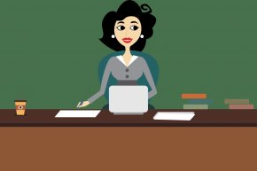Company Cartoon - Administrative Assistant Clip Art Drawing Cartoon Image PNG