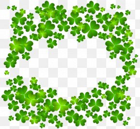 Irish Shamrock Decor Clipart - Four-leaf Clover Shamrock Clip Art PNG