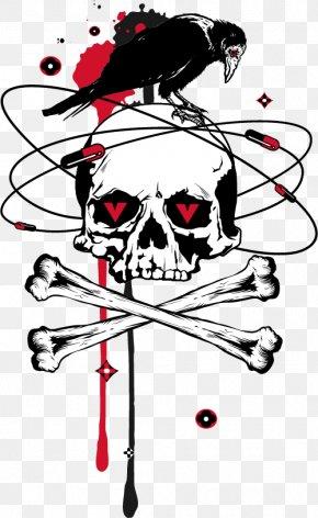 Vector Crow - Skull Euclidean Vector Bone PNG
