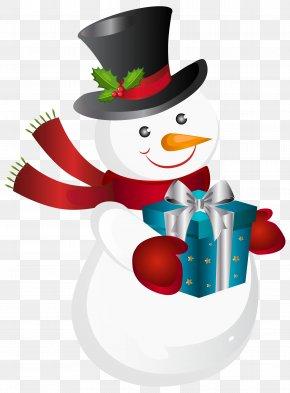 Christmas Snowman Transparent Clip Art Image - Snowman Christmas Clip Art PNG