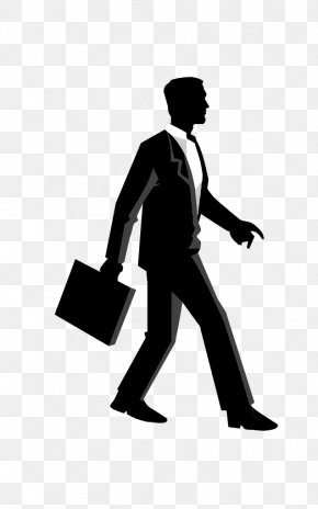 Business Man - Euclidean Vector Silhouette Stock Illustration PNG