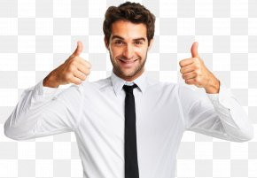 Happy Man - Thumb Signal Service Gesture PNG