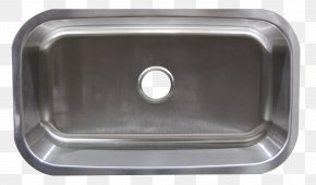 Stainless Steel Sink - Bowl Sink Stainless Steel Strainer Kitchen Sink PNG