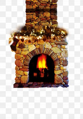 Free Christmas Stove Matting Material - Furnace Hearth Fireplace Heat PNG