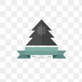 Blue Snowflake Christmas Label Banner - Computer Graphics Icon PNG