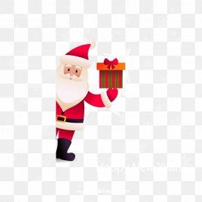 Take Santa Gift Background Vector Material - Santa Claus Christmas New Years Day PNG
