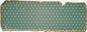 Cosmetic Paper Border - Teal Rectangle Pattern PNG