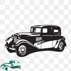 Creative Cartoon Hand-painted Vintage Car Pattern - Vintage Car Classic Car PNG