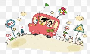 School Bus - Bus Cartoon Animation PNG