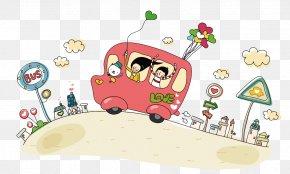 School Bus - Bus Cartoon Animation PNG