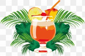 Summer Orange Juice Poster - Cocktail Orange Juice Mai Tai Orange Drink PNG