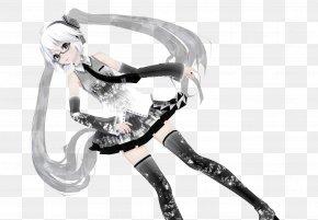 Hatsune Miku - Hatsune Miku: Project DIVA Arcade MikuMikuDance DeviantArt Black And White PNG