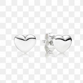 Earring - Earring Pandora Jewellery Charm Bracelet Silver PNG