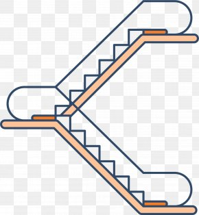 Two Steps Up And Down The Escalator - Escalator Stairs Elevator Icon PNG