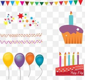 Vector Illustration Birthday Cake - Birthday Cake Cupcake Wedding Invitation PNG