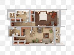 Bedroom - 3D Floor Plan House Plan PNG