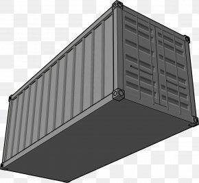Gray Container - Intermodal Container Shipping Container Freight Transport Container Ship Clip Art PNG