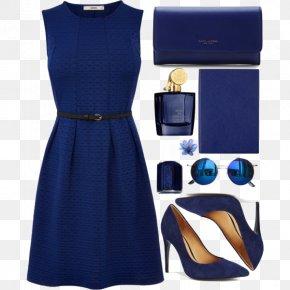 Blue Dress And High Heels - Little Black Dress High-heeled Footwear Shoe PNG