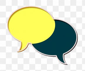 Yellow Chat Icon - Chatting Icon Communication And Media Icon Chat Icon PNG
