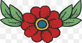 Red Flower Title Box - Flower Euclidean Vector Clip Art PNG