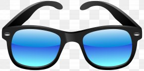 Black And Blue Sunglasses Clipart Image - Sunglasses Eyewear Clip Art PNG