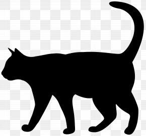 Cat Silhouette Transparent Clip Art Image - Cat Silhouette Kitten Clip Art PNG