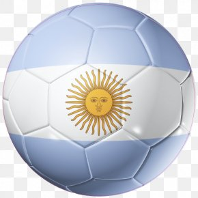 Ballon Foot - Flag Of Argentina Argentina National Football Team 2014 FIFA World Cup PNG