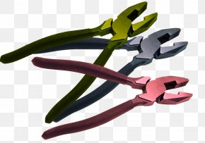 Multi-color Polished Pliers - Green Color Silver Pink PNG