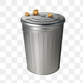 Free Metal Trash Can Pull Material - Plastic Bag Metal Waste Container PNG