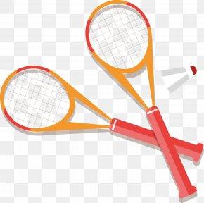 Badminton Racket Vector Elements - Strings Badminton Racket Sport PNG